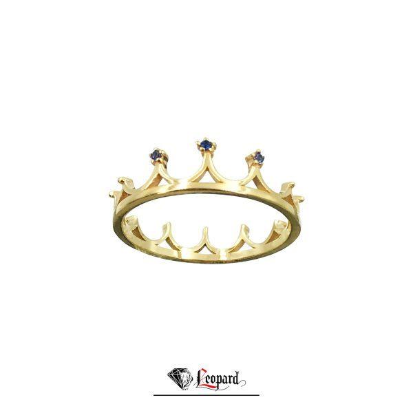 انگشتر طلای 18 عیار زنانه تاج GR-3365