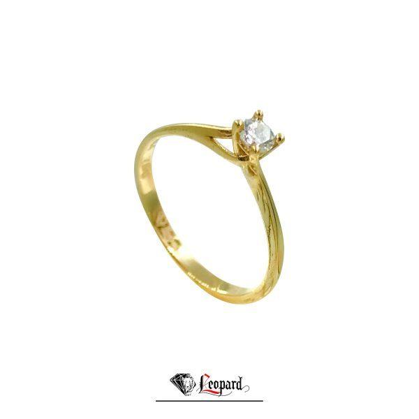 انگشتر طلا سولیتر 18 عیار زنانه GR- 3307