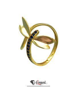 انگشتر طلای شاپرک 18 عیار زنانه GR-3322