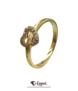 انگشتر طلای قلب زنانه 18 عیار GR-3324