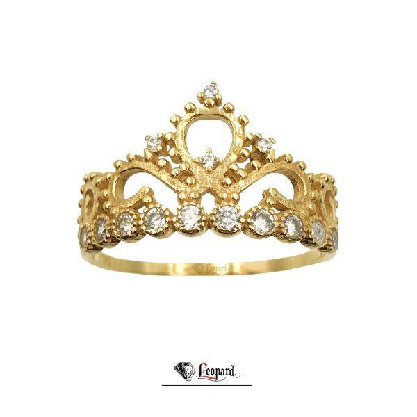 انگشتر طلای 18عیار زنانه تاج 3333-GR