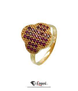 انگشتر طلا نگین دار ونکلیف 18 عیار GR-3336