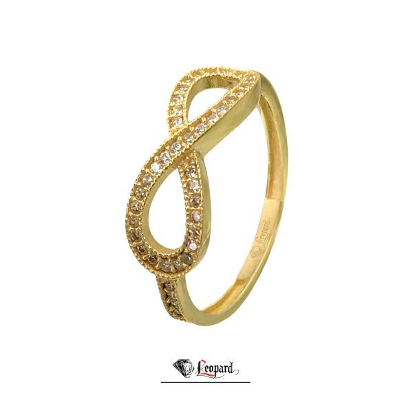 انگشتر طلا 18 عیار بینهایت 3369-GR