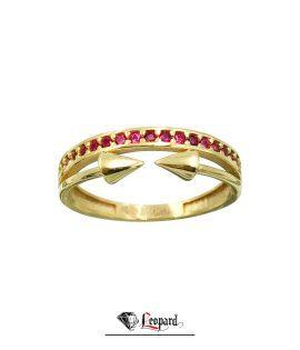 انگشتر طلای 18 عیار نگین و نیزه 3377-GR