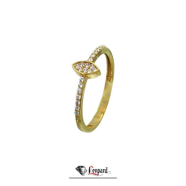 انگشتر طلای 18 عیار زنانه نگینی 3379-GR