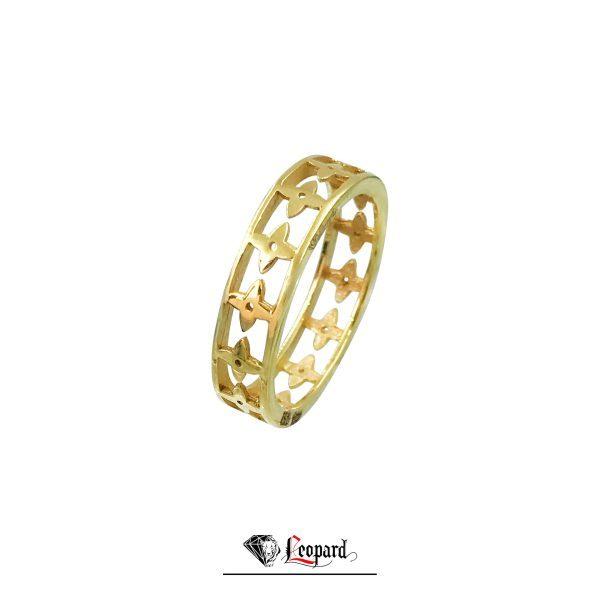 انگشتر طلای 18 عیار حلقه و ستاره3381-GR