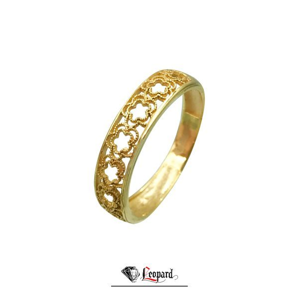 انگشتر طلای 18 عیار زنانه فلاور طرح گل 3394-GR