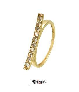 انگشتر طلای 18 عیار خطی3398-GR