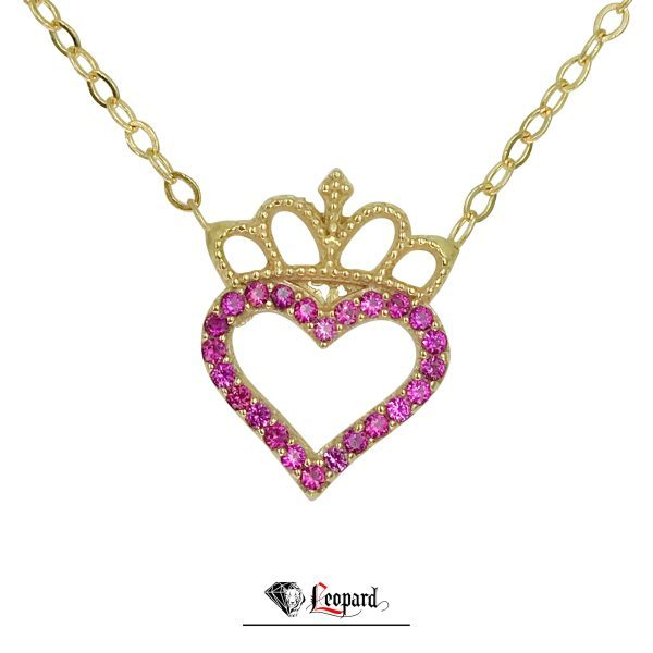آویز قلب تاجدار طلا 18 عیار زنانه 3446-GP