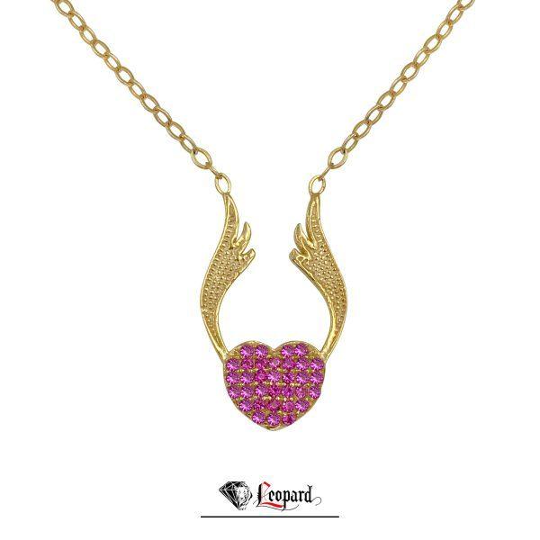 آویز قلب بالدار طلای 18 عیار زنانه - 3500-GP