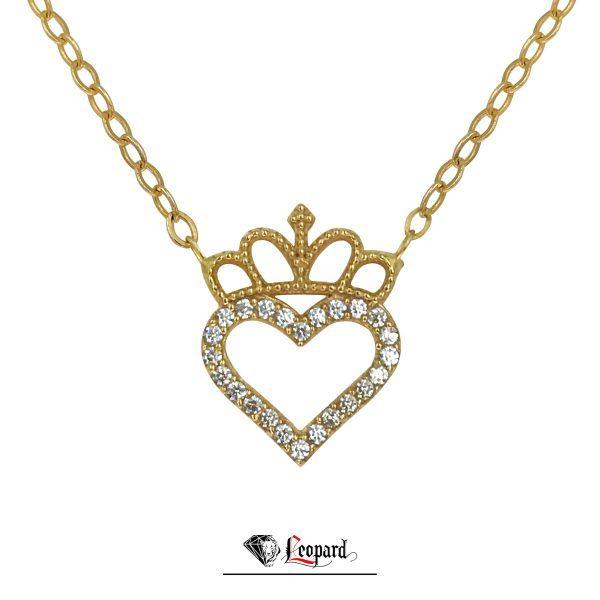 آویز قلب تاج دار طلای 18 عیار زنانه 3530-GP