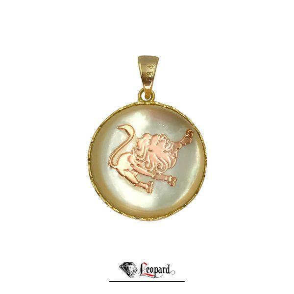 آویز ماه تولد مرداد طلای زنانه 18 عیار 3532-GP