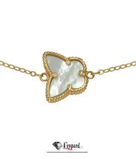 دستبند طلا طرح ونکلیف پروانه   3565-GB
