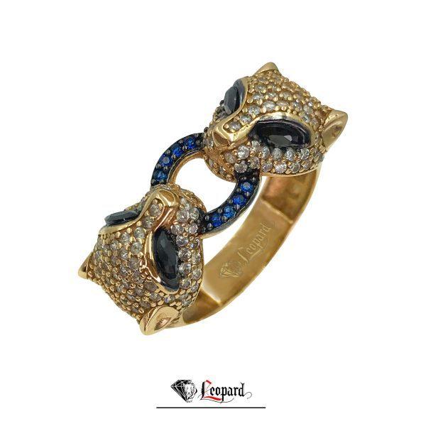 انگشتر لئوپارد طلای 18 عیار زنانه 3576-GR