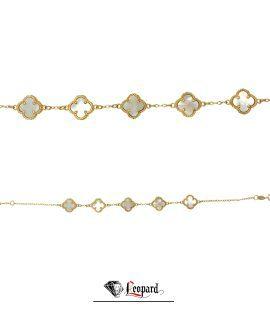 دستبند طلا 18 عیار ونکلیف 3618-GB
