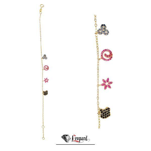 دستبند طلا رنگی 18 عیار زنانه 3632-GB