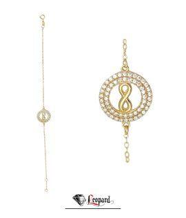 دستبند رنگی بینهایت طلا زنانه 18 عیار 3636-GB