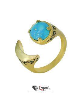 انگشتر شوره زیرخاکی فیروزه زنانه 18 عیار GR-4645