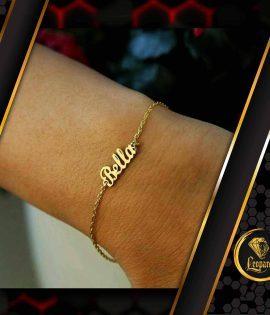دستبند اسم bella