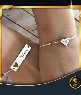 دستبند قلب و حروف R
